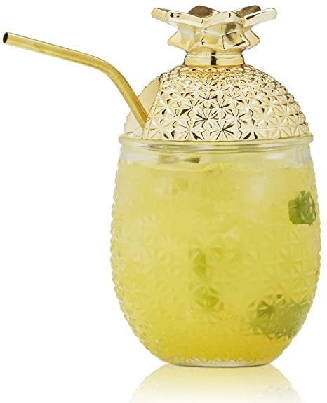 pineapple cocktail glass