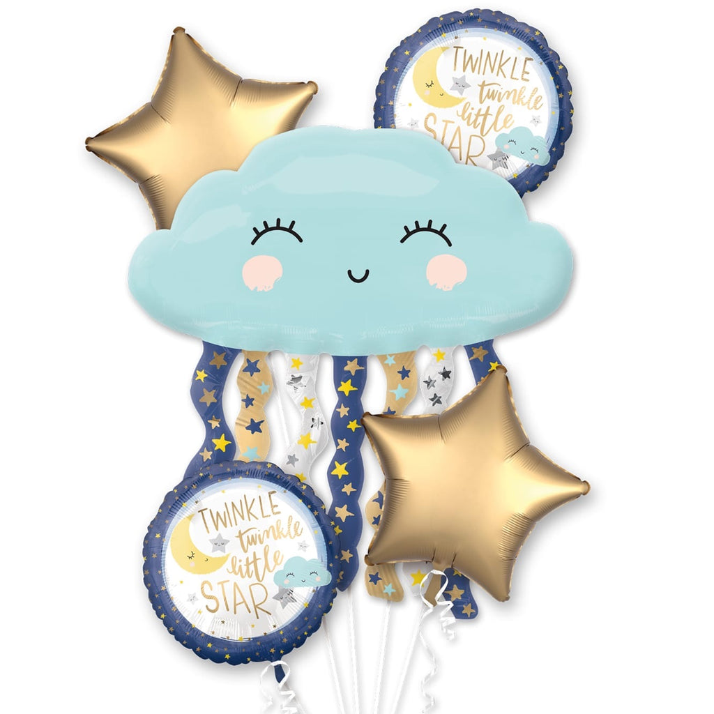 "baby balloon ""twinkle twinkle little star"" bouquet (5 piece)"