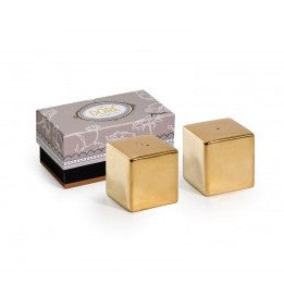 gold salt & pepper shaker set