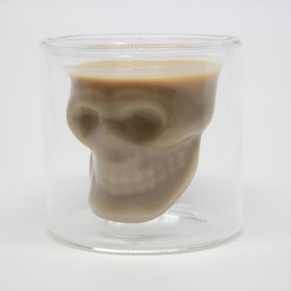 double skull shot glass 50ml (set of 2)