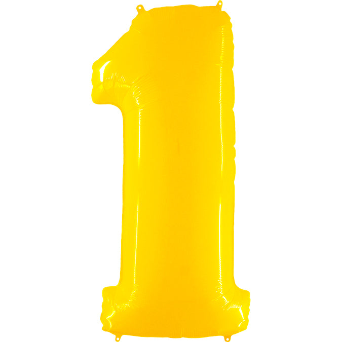 "40"" jumbo number balloons white, yellow or tiffany blue"