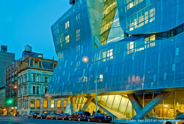 Cooper Union new Academic building designed by Thom Mayne of firm Morphosis< New York City, New York