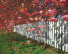 Cherry Blossoms, Fence