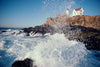 Nubble Light, waves crashing