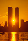 Sunrise Between Twin Towers 2