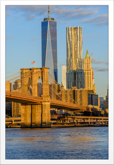 Brooklyn Bridge,  Freedom Tower Morning