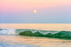 Wave With Full Moon, East Hampton