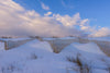 Snow Fence With Clouds