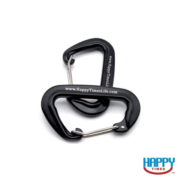 Wholesale Happy Times Aluminum Wiregate Carabiners (pair of 2) - Case Packs of Quantity 3