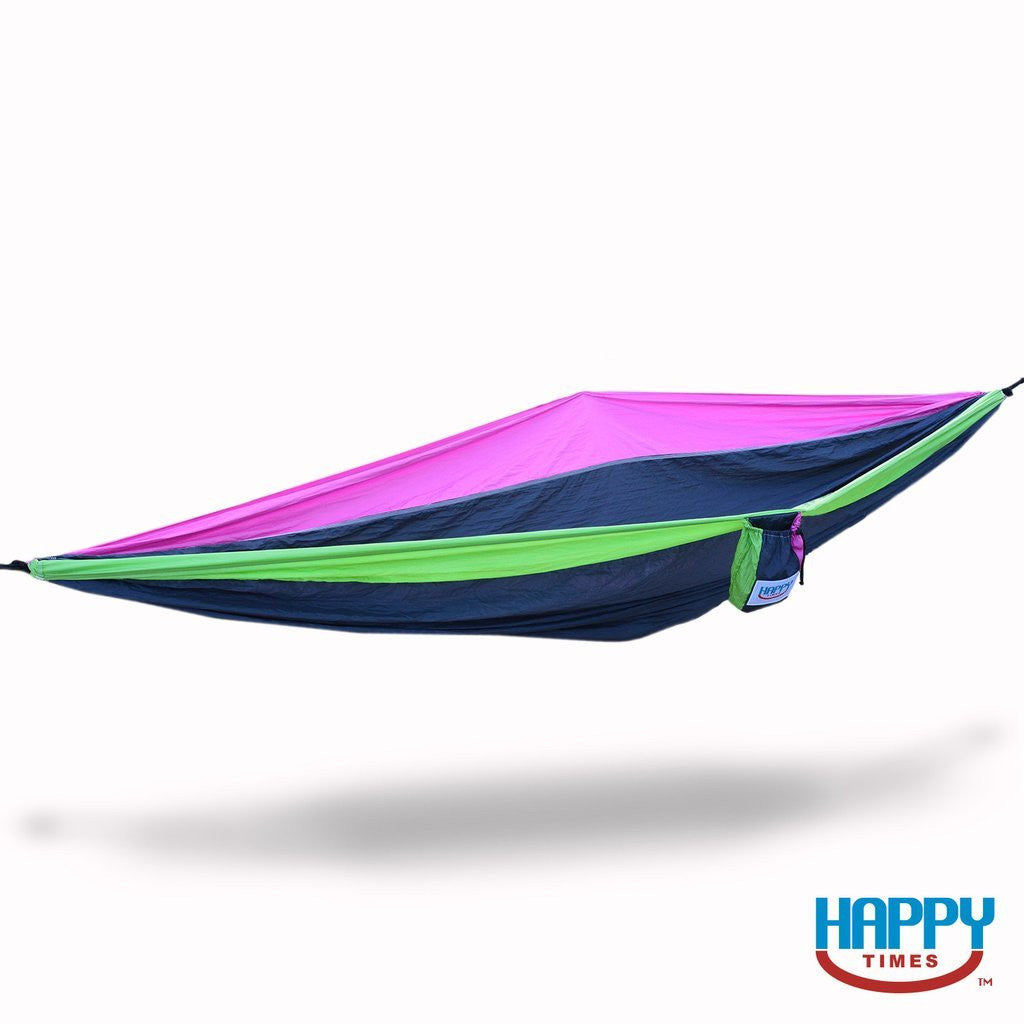 Double Parachute Hammock with Starter Rope & Steel Carabiners (5 Color Options)