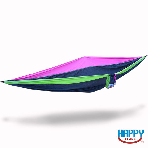 Happy Times Double XL Parachute Hammock - Vegas - Pink/Lime Green/Black - Happy Times