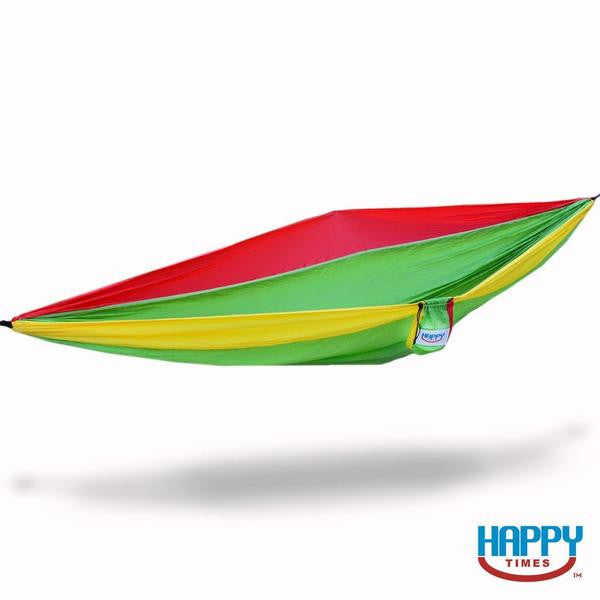 Double Parachute Hammock with Pre-Knotted Ends (5 Color Options)