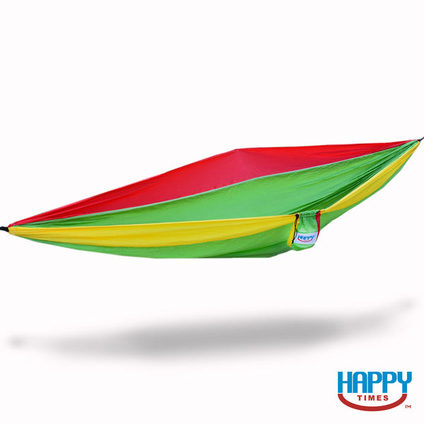 Happy Times Double XL Parachute Hammock - Rasta - Red/Yellow/Green - Happy Times