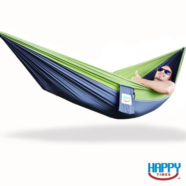 Single Parachute Hammock with Tree Straps & Wiregate Carabiners