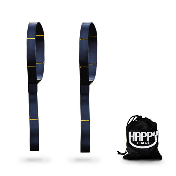 Happy Times Hammock Tree Straps - 2 Pack, Polyester, Multi Use Tree Swing Straps, Storage Straps - Happy Times