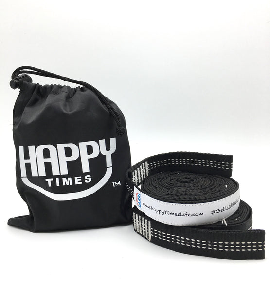 Happy Times Hammock Tree Straps - 2 Pack, Polyester
