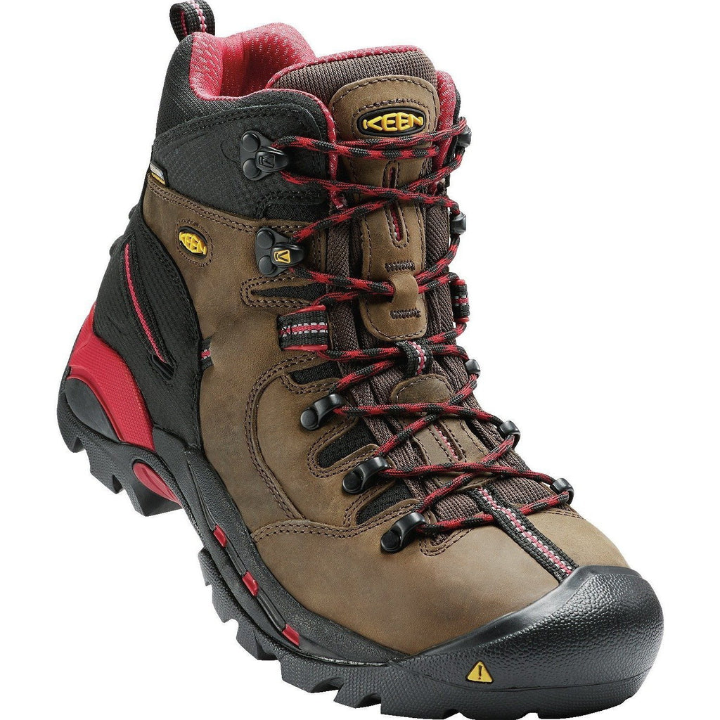 KEEN Utility Pittsburgh Steel Toe Work Work Boot - Bison - 1007024 8.5 / Wide / Bison - Overlook Boots