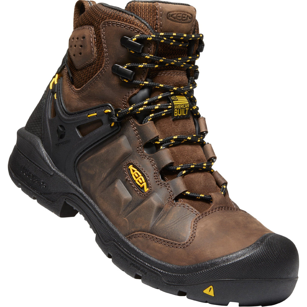 "KEEN Utility Men's Dover 6"" Comp Toe USA Built WP Work Boot 1021467 8.5 / Medium / Brown - Overlook Boots"