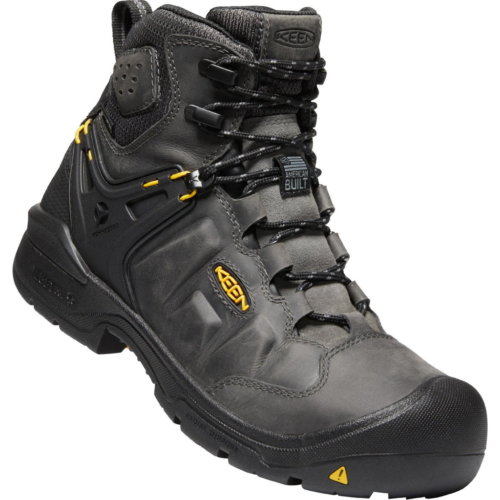 "KEEN Utility Men's Dover 6"" Comp Toe USA Built WP Work Boot 1021469 8.5 / Medium / Gray - Overlook Boots"