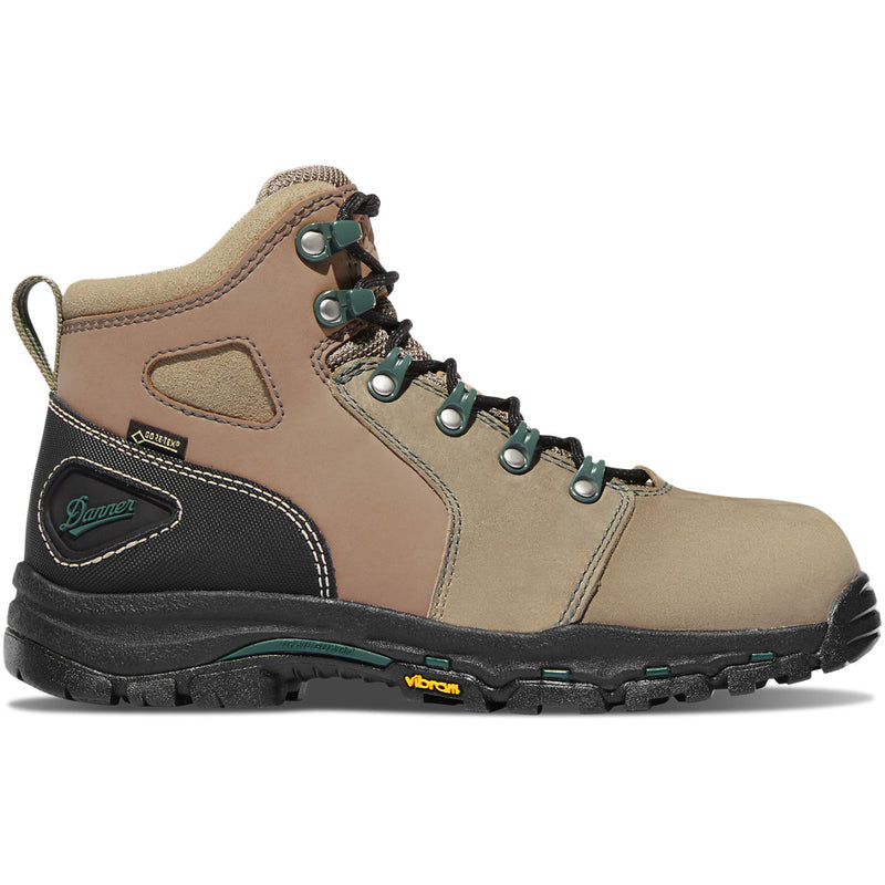 "Danner Women's Vicious 4"" WP Comp Toe Work Boot - Brown - 13853  - Overlook Boots"
