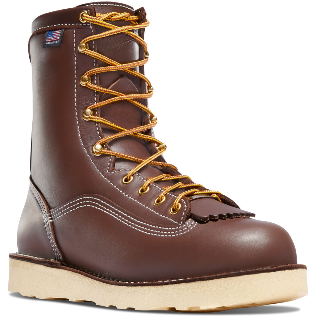 "Danner Men's Power Foreman 8"" USA Made Waterproof Work Boot - 15200 7 / Medium / Brown - Overlook Boots"