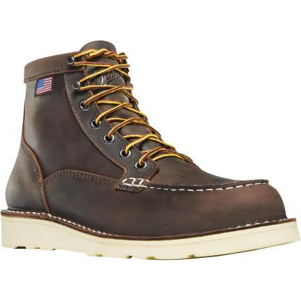 "Danner Women's Bull Run 6"" Moc Toe Work Boot - Brown - 15575 5 / Medium / Brown - Overlook Boots"