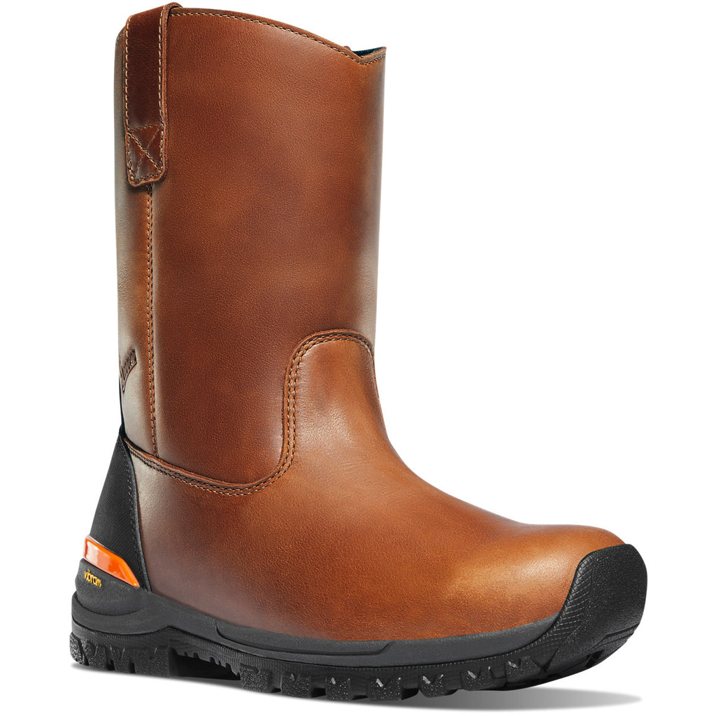 "Danner Men's Stronghold 10"" Comp Toe Wellington Work Boot Brown 16742 8 / Medium / Brown - Overlook Boots"