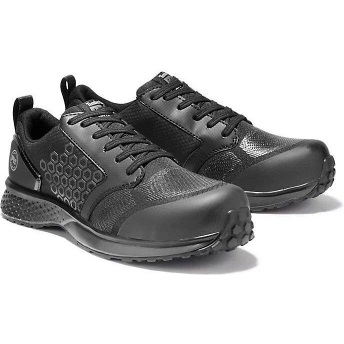 Timberland Pro Men's Reaxion Comp Toe Work Shoe-  Black - TB0A1ZA2001 7 / Medium / Black - Overlook Boots