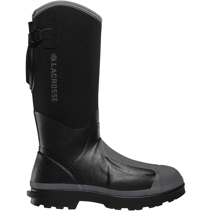 "Lacrosse Men's Alpha Range 14"" Comp Toe WP Work Boot - Black - 248310 7 / Black - Overlook Boots"
