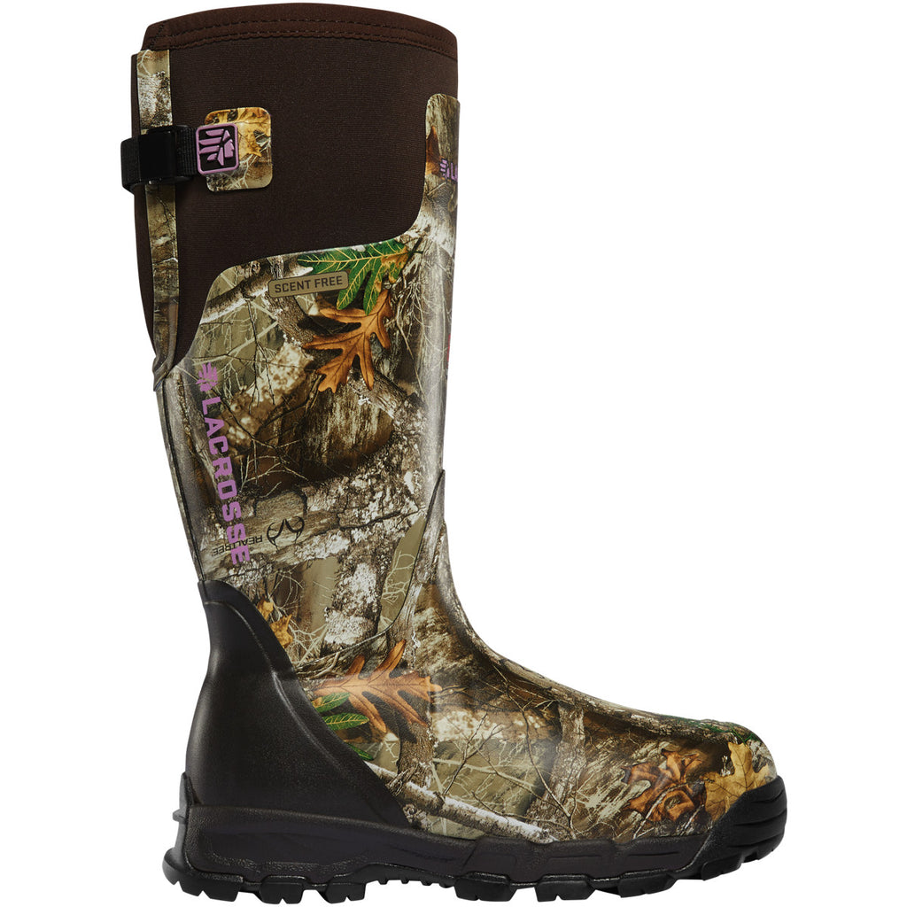 "Lacrosse Women's Alphaburly Pro 15"" Soft Toe WP 800G Hunt Boot - 376028 5 / Realtree Edge - Overlook Boots"