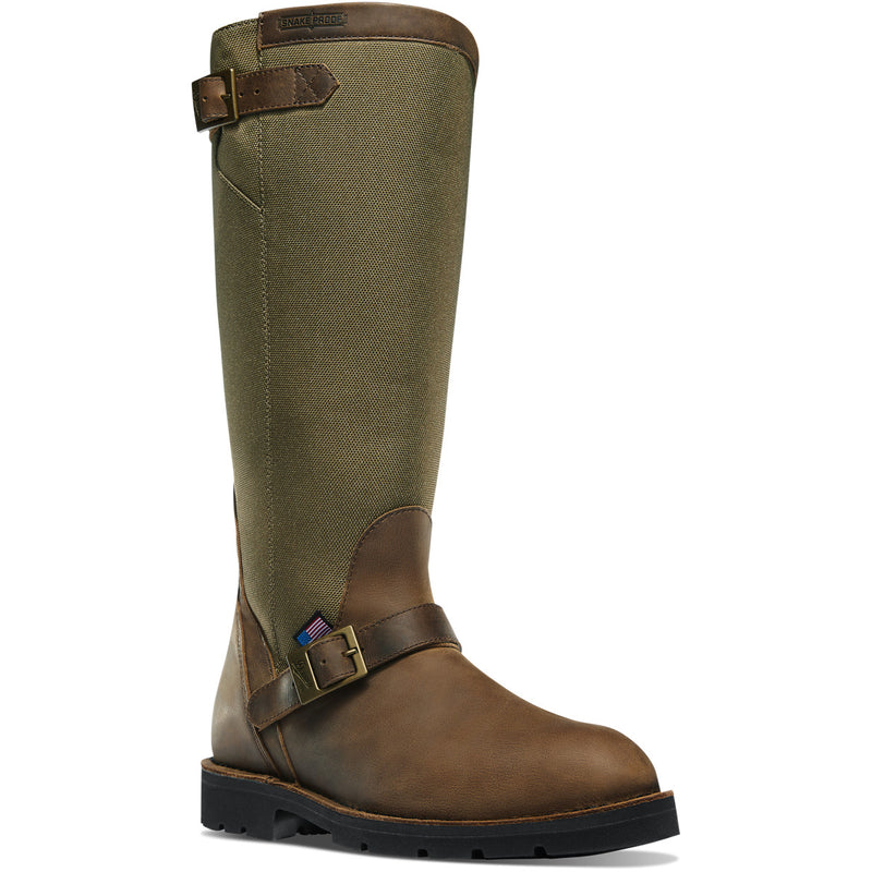 "Danner Men's San Angelo 17"" Snake Hunt Boot - Brown - 42751 7 / Medium / Brown - Overlook Boots"