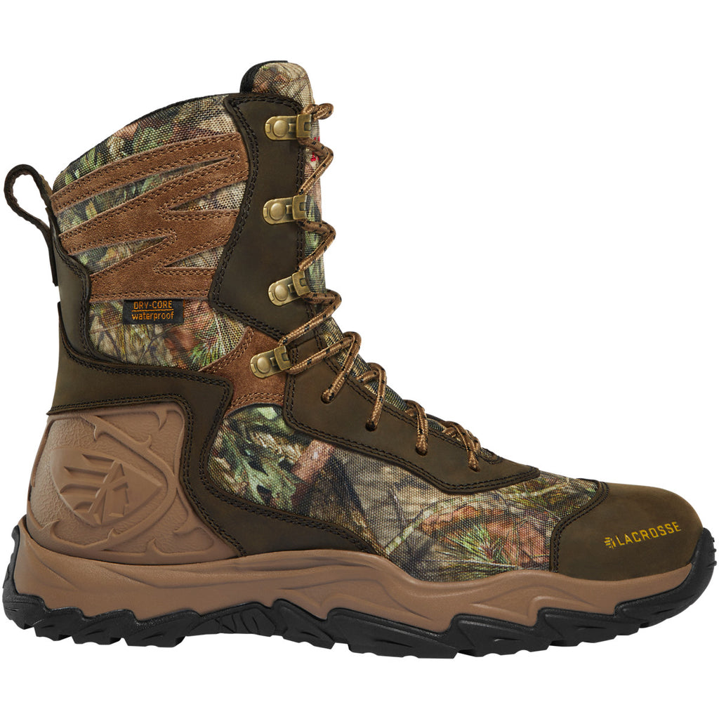 "Lacrosse Men's Windrose 8"" WP 1000g Thinsulate Hunt Boot - 513362 7 / Medium / Realtree Edge - Overlook Boots"