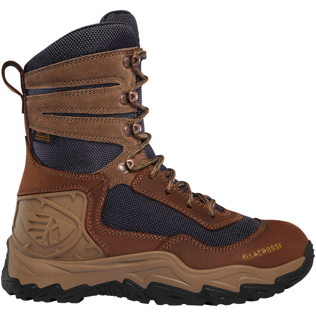 "Lacrosse Women's Windrose 8"" Soft Toe WP Hunt Boot - Brown - 513363 5.5 / Medium / Brown/Midnight - Overlook Boots"