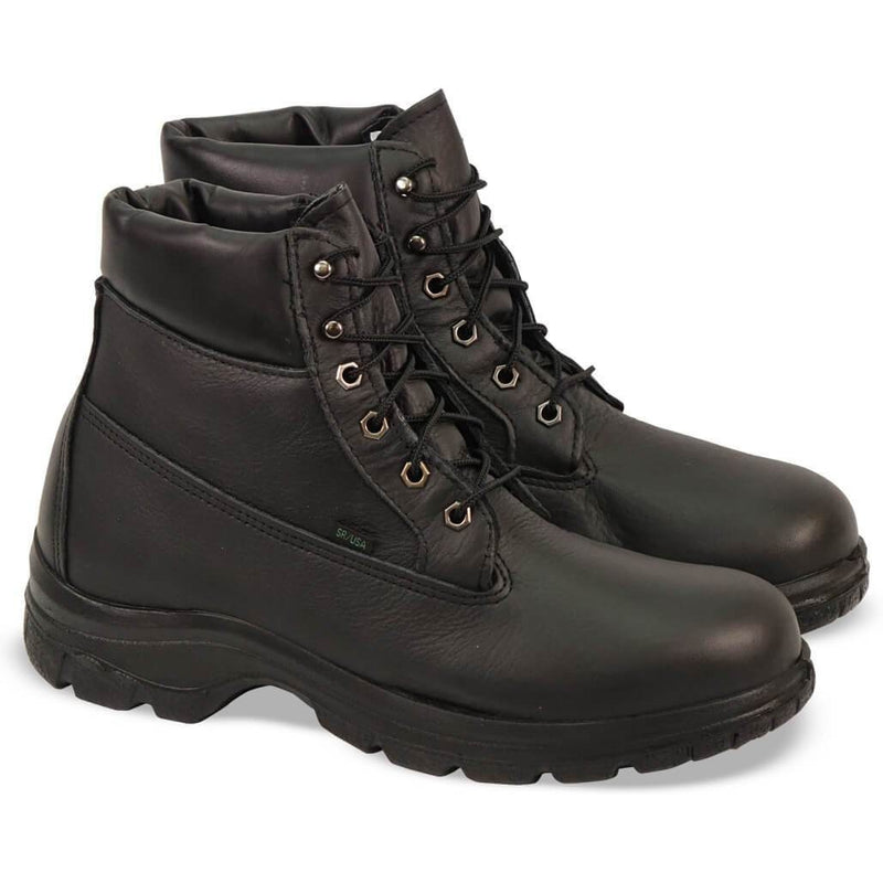 "Thorogood Women's USA Made Softstreets 6"" WP Ins Duty Boot - 534-6342 6 / Medium / Black - Overlook Boots"