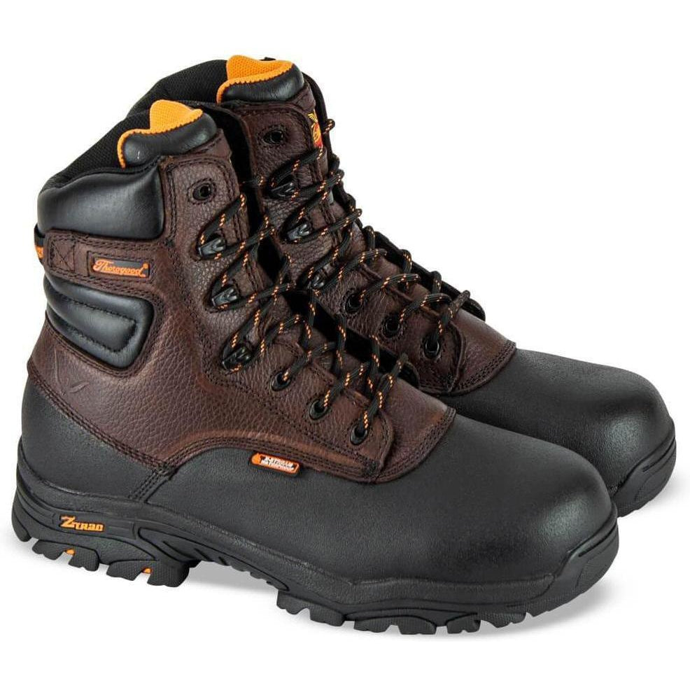 "Thorogood Men's Crossover 7"" WP Comp Toe Work Boot Brown - 804-4808 5.5 / Medium / Brown - Overlook Boots"