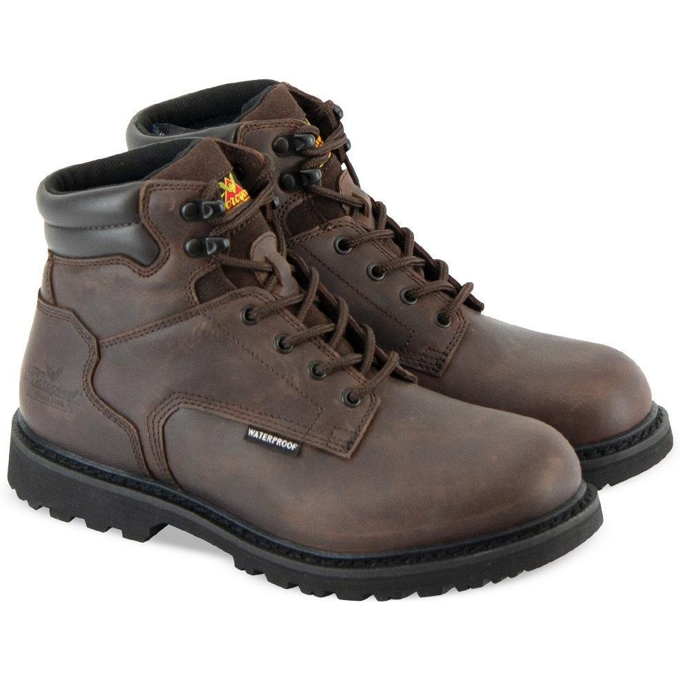"Thorogood Men's V-Series 6"" WP Rubber Outsole Work Boot- Brown- 864-4278 8 / Medium / Brown - Overlook Boots"