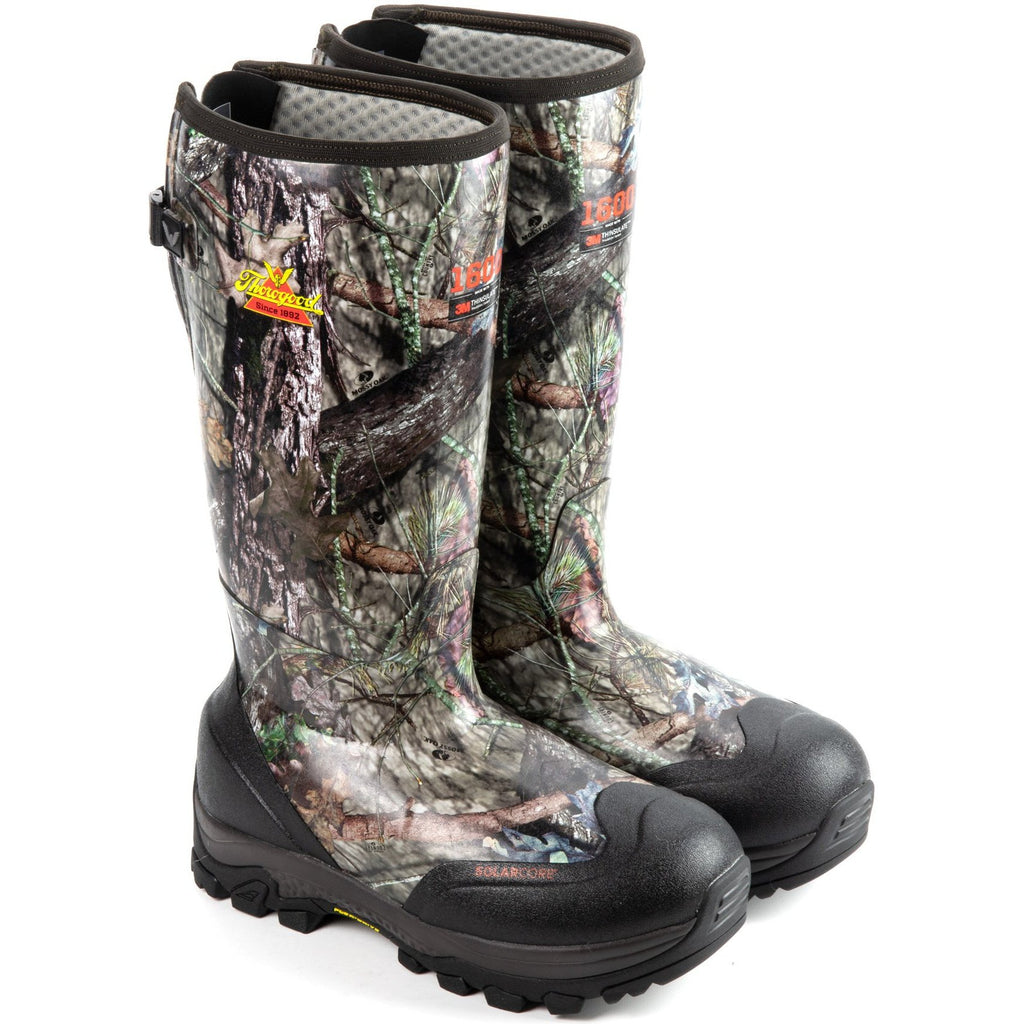 "Thorogood Men's Infinity FD 17"" WP 1600g Rubber Hunt Boot - 867-0116 8 / Medium / Mossy Oak - Overlook Boots"