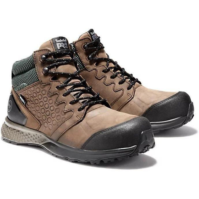 Timberland Pro Men's Reaxion Comp Toe WP Work Boot Brown TB0A1ZRC214 7 / Medium / Brown - Overlook Boots