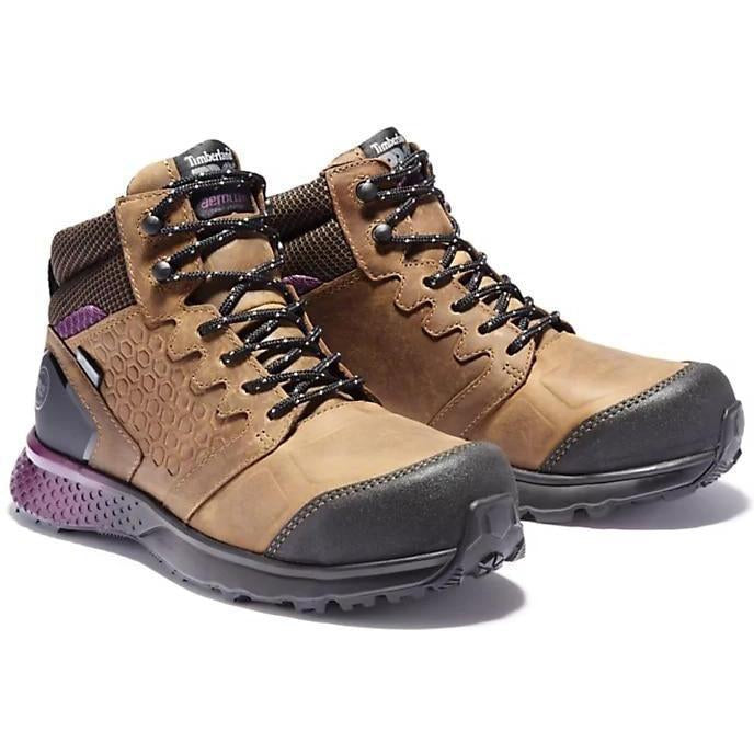 Timberland Pro Women's Reaxion Comp Toe WP Work Boot Brown TB0A219B214 5.5 / Medium / Brown - Overlook Boots