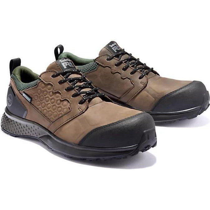 Timberland Pro Men's Reaxion Comp Toe WP Work Shoe Brown TB0A21PN214 7 / Medium / Brown - Overlook Boots