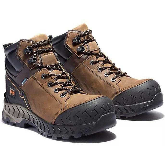 "Timberland Pro Men's Work Summit 6"" Comp Toe WP Work Boot- TB0A225Q214 7 / Medium / Brown - Overlook Boots"