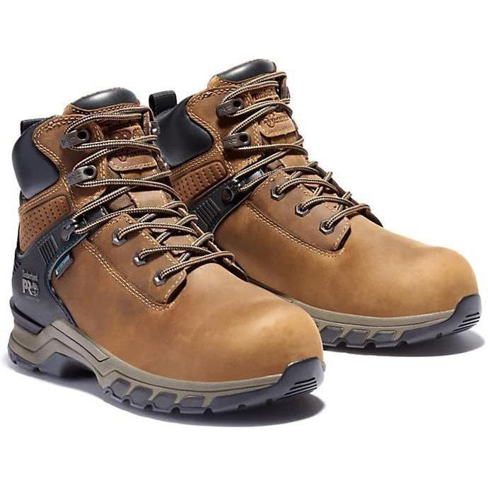 "Timberland Pro Women's Hypercharge 6"" Comp Toe WP Work Boot TB0A24VW214 6 / Medium / Brown - Overlook Boots"