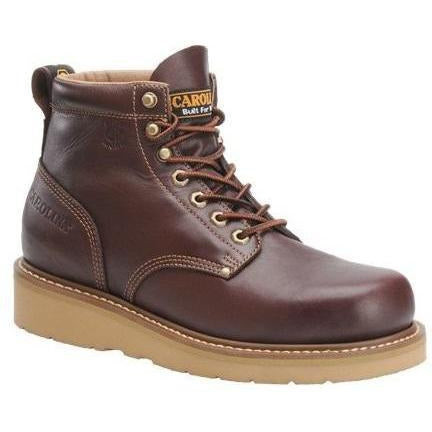 "Carolina Men's Amp Lo 6"" Broad Toe Wedge Work Boot - Dark Oak - CA3049 8 / Medium / Dark Oak - Overlook Boots"