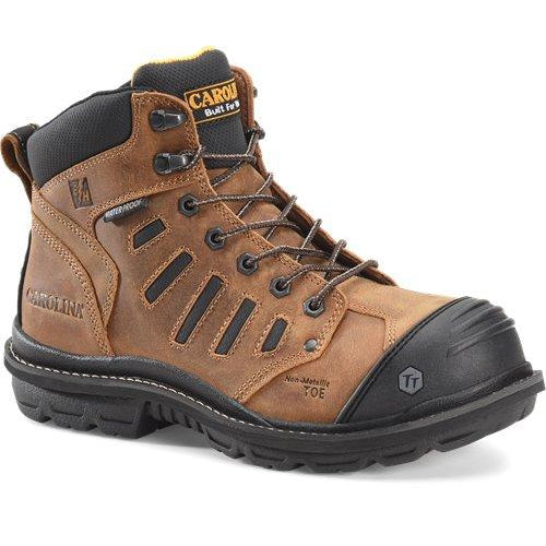 "Carolina Men's Kauri 6"" Comp Waterproof Work Boot - Brown - CA4557 8.5 / Medium / Brown - Overlook Boots"