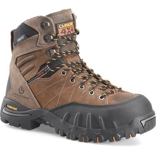 "Carolina Men's Gravel 7"" PC2 Comp Toe WP 4x4 Hiker Work Boot - CA4558 8 / Medium / Brown - Overlook Boots"