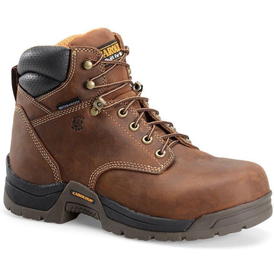 "Carolina Men's Bruno Lo 6"" WP Comp Toe Work Boot - Brown - CA5520  - Overlook Boots"