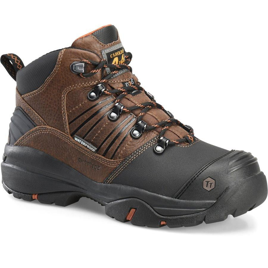 "Carolina Men's Miner 6"" Carbon Comp Toe Metguard WP Work Shoe CA5587 8 / Medium / Brown - Overlook Boots"