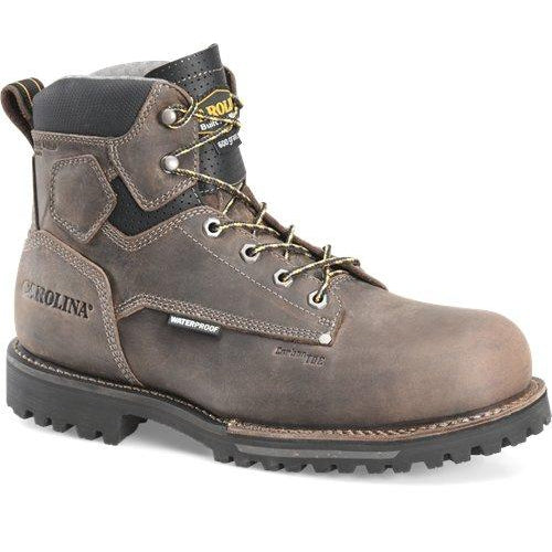 "Carolina Men's Pitstop 6"" Comp Toe WP Ins. Work Boot - Grey - CA7538 8 / Medium / Grey - Overlook Boots"