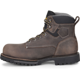 "Carolina Men's Pitstop 6"" Comp Toe WP Ins. Work Boot - Grey - CA7538  - Overlook Boots"