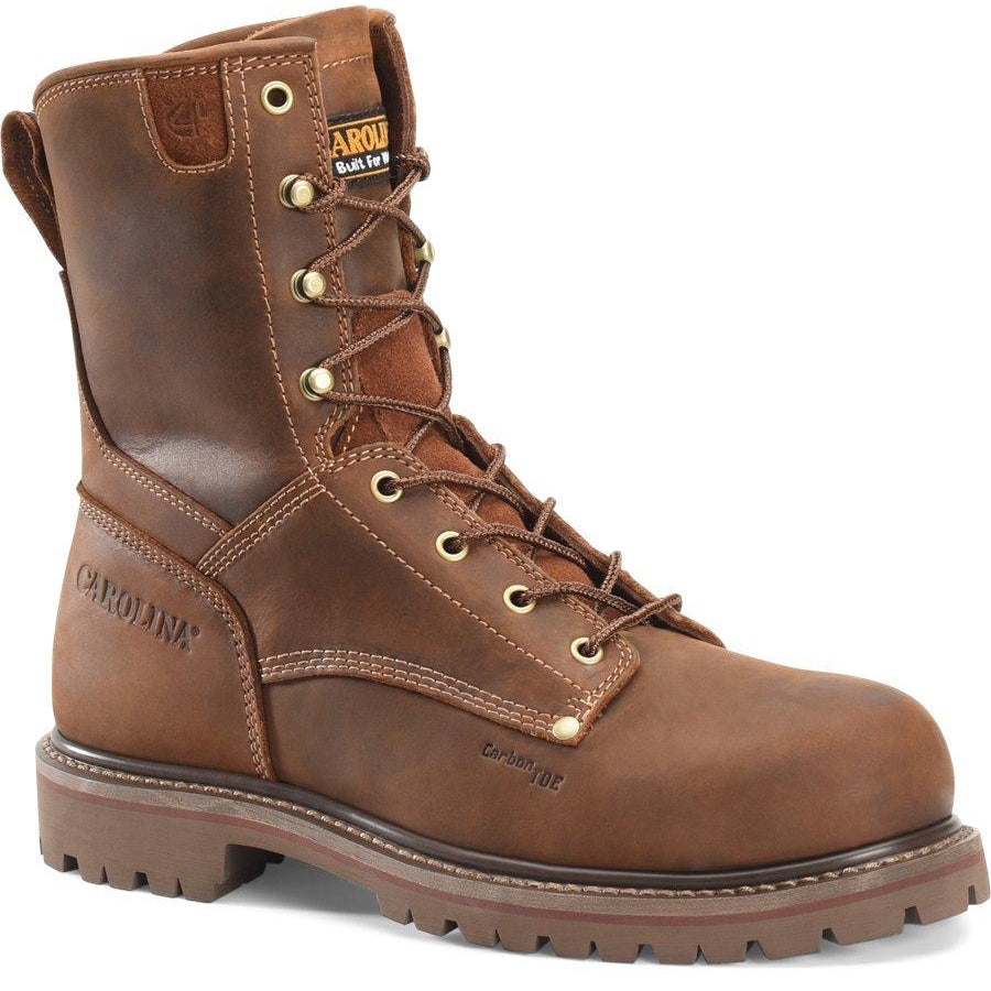 "Carolina Men's 8"" Comp Toe Unlined Work Boot - Brown - CA8628 8 / Medium / Brown - Overlook Boots"